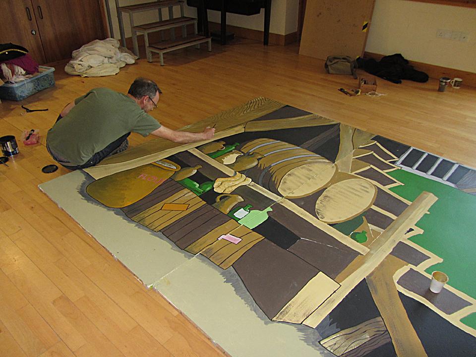 Painting panto scenery